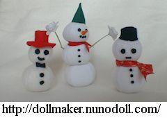 Parts of snowman